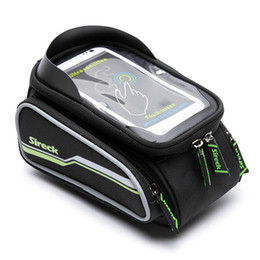 "touchscreen accessories NZ - Sireck Waterproof Bike Bag 6.5"" Touchscreen Phone Holder Bicycle Top Tube Bag Front Frame Bag Cycling Pannier Bike Accessories MX200717"