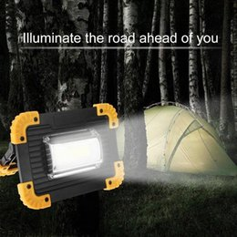 led floodlight emergency rechargeable lamp UK - LED Spotlight 30W 400LM Portable Rechargeable Outdoor Camping Emergency Lawn Work Fishing Lighting LED Spotlight Floodlight Lamp Jw7d#