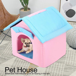 housing Australia - Portable Foldable Breathable Pet Tent House Sleeping Bed for Small Medium Size Dog Cat Winter Warm Cushion Basket Animal Bed IEnT#