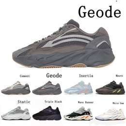 discount kanye west shoes UK - Discount Inertia Static Kanye West 700 Running Athletic Shoes Men Women 700s Geode Cement Triple Black White Gum Sports Sneakers 36-46