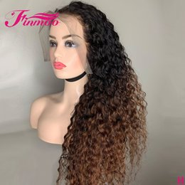 curly blonde full lace wigs NZ - 13X6 Honey Blonde Lace Front Human Hair Wigs Pre Plucked Ombre Curly Full Lace Human Hair Wigs Peruvian Remy Brown Curly Wig 150