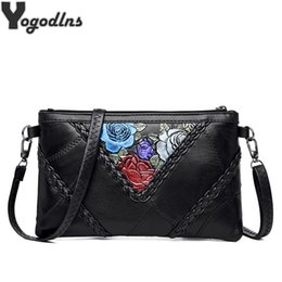 knit flowers Canada - Flower Pattern Shoulder Bags for Women PU Mini Messenger Bag Ladies Crossbody Bag Solid Handbags Envelope Hand Bag