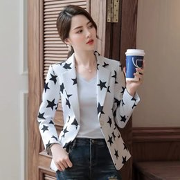 fitted suits for women Canada - Black small suit for Women 2020 new spring Korean style short Coat coat slim fit casual suit top