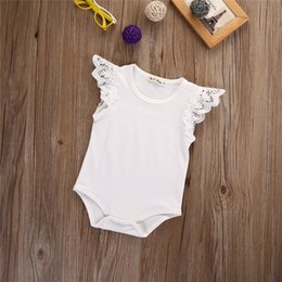 baby lace bodysuit UK - Cute Newborn Infant Baby Girls Lace Ruffles Rompers Bebe Bodysuit Kids Clothes Leopard Tops