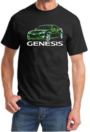 Hyundai Genesis Sports Car Neon Lights Дизайн Tshirt
