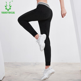 womens cotton yoga pants Australia - Vansydical Womens Running Pants Long Yoga Legging Joggers Cotton Waistband Sports Sweatpants Gym Running Workout Jogging Pants