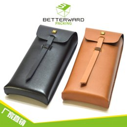 caja de los vidrios bolsa blanda disponible caja de almacenamiento de bolsa blanda caso creativo del sol caso de cuero hechos a mano las gafas de sol en venta
