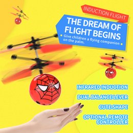 infrared controller NZ - remote control toy spiderman gesture sensing child gift night light flying airplane toy infrared induction drone intelligent kindergarten
