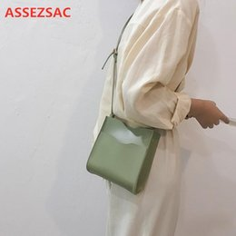 soft leather bags for women Australia - ASSEZSAC New Fashion Wild Women Bag Corssbody Bags For Women Bucket Bag Soft PU Leather Casual Small Squaree636#