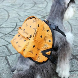 dog print bags NZ - Pets Backpacks Classic Printed Letter Pet Clothes Clothing Shoulders Bags Outdoor Street Style Pets Gifts Bag With Box Dog Apparel Fashion