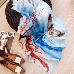 white cotton chiffon scarf UK - Sales of high-end, atmosphere, high-end European and American fashion scarf 2020 classic fashion, high quality, printing