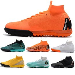 ic packs NZ - 2019 New Mens Football Boots Euphoria Pack SuperflyX 6 Elite IC TF Outdoor Shoes CR7 Mercurial Superfly VI Neymar Indoor Turf Soccer