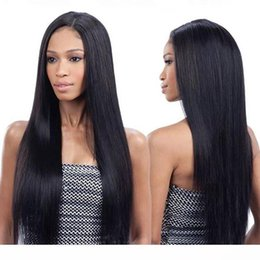 brazilian virgin hair u part wigs UK - C Full Lace Human Hair Wigs Cheap For Black Women Straight Virgin Peruvian Hair Pre Plucked 360 Lace Front Wig With Baby Hairs