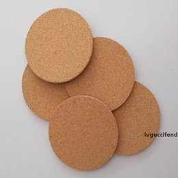 insulation pad waterproof Canada - New Cork waterproof and non-slip cup cushion restaurant household used thermal insulation table cushion solid color round pad T3I5474