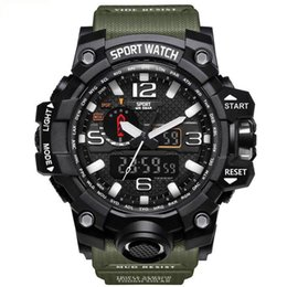 white mens digital watches Australia - Mens New Arrival Watches 2019 Top Brand Swimming Waterproof Sports Wristwatch for Man Male Students Military LED Digital Sport Quartz Watch