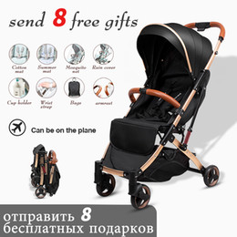 children portable strollers Canada - Free shipping 5.8kg light Baby Stroller Plane Lightweight Portable Travelling Pram Children Pushchair Umbrella carriage