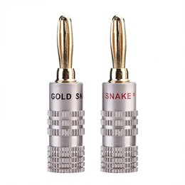 diameter speaker UK - VBESTLIFE 10 Pcs Pack Banana Plugs 4mm Diameter Audio Jack Adapter Dual Screw Lock Speaker Connector 24K Gold Plated Pure Copper