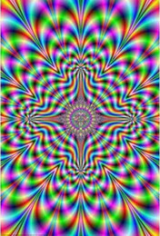 illusions paintings Australia - PULSE SHRINK WRAPPED ILLUSION TRIPPY SILK POSTER Decorative Wall painting 24x36inch cYAq#