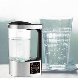 2L hydrogen rich water bottle alkaline ion generator filter drinking water hydrogen water generator 110V 220V high quality on Sale