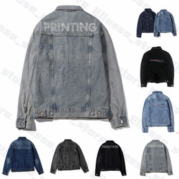 Wholesale casual mens long coat for sale - Group buy 2020 Mens Designer Denim Jackets Men Womens High Quality Famous Casual Winter Coats Branded Fashion Luxe Mans Jacket Stylist Outwear ss