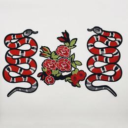 5 piezas de paño nuevo parche bordado serpiente animal ropa de bricolaje accesorios de vestir parches grandes accesorios traje bordado de parches en venta
