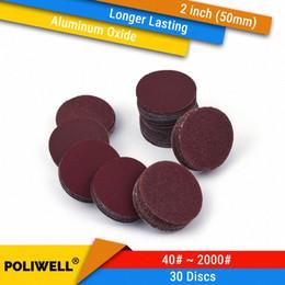 30PCS 2 Zoll (50 mm) Aluminiumoxyd HookLoop Red Grain Trockenschleifscheiben für Holzbearbeitungs Dremel Power Tools Polieren Zubehör yoOB # im Angebot