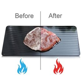 kitchen basting brush UK - Fast Defrosting Tray Aluminum Plate Defrost Meat or Frozen Food Cooking S M L SIZE Defrosting Plate Board Defrost Kitchen TOOLS KKA7846