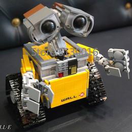Freeshipping In Stock Star Series Wars 16003 The Robot WALL E 21303 687Pcs Ideas Model Building Kits Blocks Bricks Education Toys Christmas