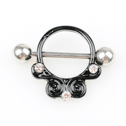 Discount nipple ring black D0702 ( 1 color ) Nipple Black color Navel Belly Button Ring piercing body jewlery 1.6*11*5 8 belly ring Body Jewelry