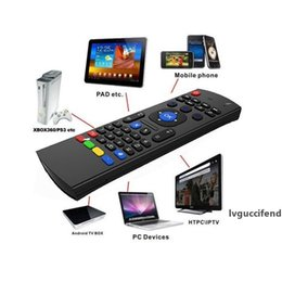 android tv box remote combo NZ - X8 Mini Wireless Keyboard Fly Air Mouse Remote MIC Combo G-Sensor For MX3 MXQ M8 M8S M8N M95 Amlogic S905 5.1 Android TV BOX Media Player