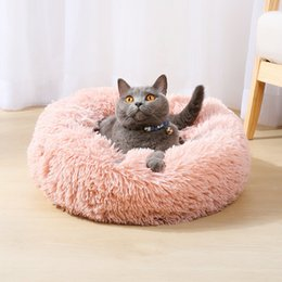 factory direct pet supplies NZ - Factory direct selling dog kennel shack winter plush cat bed pet supplies foreign trade wholesale round pet nest.