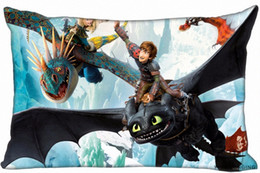 zipper train case Australia - Custom How To Train Your Dragon Pillow Covers Cases Rectangle Pillowcases Zipper 40x60cm One Side Print180516 21 10 Pillow Case Oxford IEth#