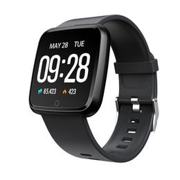Wholesale best android watches resale online - Best Waterproof Fitness Tracker Smart Watch Silicone Band Watch Sport Pedometer Sleep Tracker Heart Rate Monitor Smartwatch For IOS Android