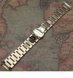 21mm watch Canada - 18mm 19mm 20mm 21mm 22MM 23mm 24MM Solid Stainless Steel Curved End Watch Strap Band Bracelet gold Fashion color promotion new
