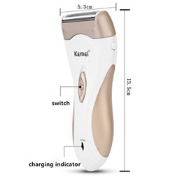 lady shaver razor UK - Kemei 3518 110 240V Rechargeable Lady Shaver Razor Women Epilator Female Depilador Electric Shaving Machine Scraping Hair Removal jTBEY