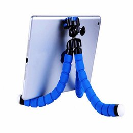 octopus camera NZ - Flexible Octopus Tripod Phone Holder Foam handle Bicycle Stand Bracket For iPhone iPad Camera Selfie Monopod with Bluetooth Remote Shutter