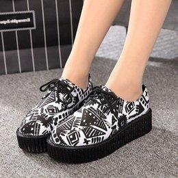 black creepers lace NZ - Women Flats 2020 New Creepers Fashion Women Shoes Platform Shoes Black Lace-Up Casual Suede Creepers 35-41 d01 cs01