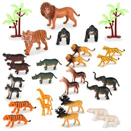 Wholesale jungle animal world simulation model toy set for kids varieties of animal realistc image enrich children's cognitive hand-on ability 01