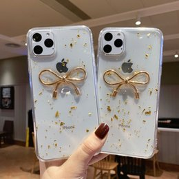bling bow cases UK - Bling Bow Phone Cases Soft TPU Epoxy Protective Back Cover For iphone 11 Pro Max XS MAX XR X 6S 7 8 plus