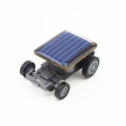 small solar powered toy car NZ - High Quality Smallest Mini Car Solar Power Toy Car Racer Educational Gadget Children Kid's Toys Hot Selling