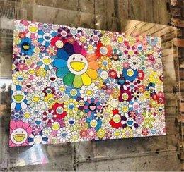 Wholesale 1000Pieces Kaikaikiki Sun Flower Puzzle Paintings Smiling Flower Jigsaw Puzzle Collection Arts Hanging Puzzle Paintings 74*51cm