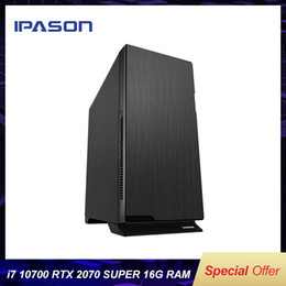 video cards used Australia - IPASON Sama107 Intel 10th Gen i7 Core 10700 Rtx2070 Super 8G Graphics Card 500G M2 Nvme Ssd 16G Design Video Editing Desktop PC