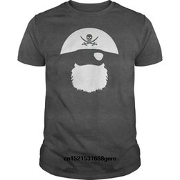 pirate tee NZ - funny t shirt Pirate Hat Eyepatch And Beard tshirt men tee