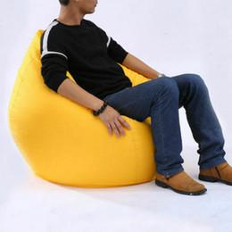 Vente en gros Lazy grandes intriqués Canapés Chaises sans couverture de remplissage en tissu Oxford Lounger Siège Bean Sacs confortable Pouf Puff canapé Tatami Salon