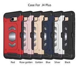 silver dirt NZ - 6 colors Clear PC+TPU Shockproof Phone case Full body protective phone cover colorful for Samsung J4 plus with dirt resistant