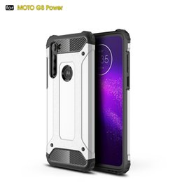 vision pro UK - Rugged Armor Hard PC TPU Shockproof coque cases Case For MOTO P40 G8 G7 power one macro action vision zoom pro play plus