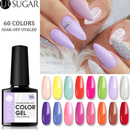 browning nail art UK - UR SUGAR 7.5ml Color Gel Nail Polish Soak Off UV Gel Varnish Semi Permanant UV Nail Art Lacquer Base Top Coat LED Design