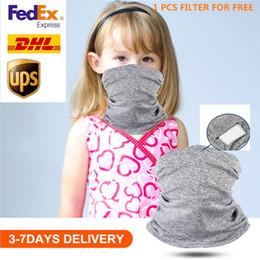 Venta al por mayor de Tubo de niños Máscara Cara principal protector de cuello polaina del motorista del pañuelo bufanda pulsera de la cabeza del envío de DHL Piezas Beanie Cap al aire libre Fantasía