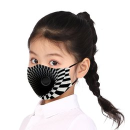 jade dresses UK - 3 D3D dustproof and sunscreen children's mask cotton yarn PM2.5 filter with valve mask washable