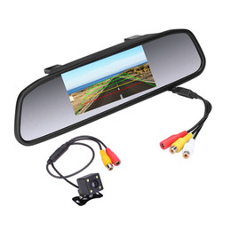 auto ccd cameras 2021 - 4.3 inch Car HD Rearview Mirror Monitor CCD Video Auto Parking Assistance LED Night Vision Reversing Rear View Camera